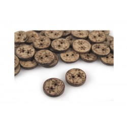 Scrapboking - Kokosový knoflík - kytičky