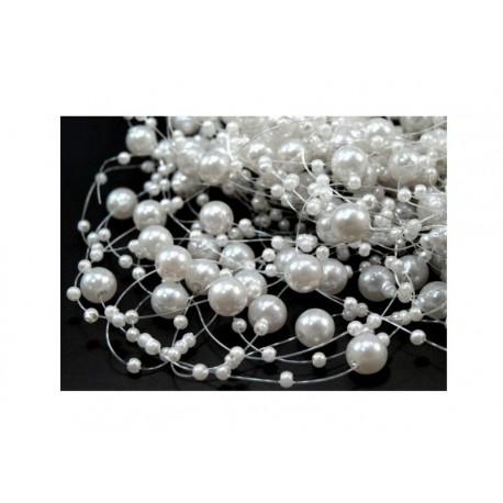 Scrapbooking - Perličky bílé