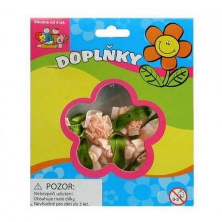 Scrapbooking - Kytičky růžové - látkové