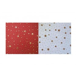 Scrapbooking - Indický papír - Červený s hvězdami