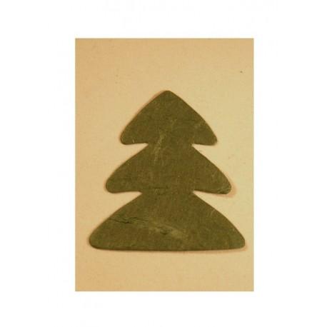 Scrapbooking - Stromeček z ručního papíru - zelený