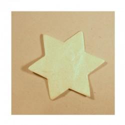 Hvězdičky bílé s perleťovým povrchem - velké
