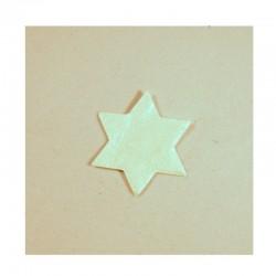 Scrapbooking - Hvězdičky bílé s perleťovým povrchem - malé