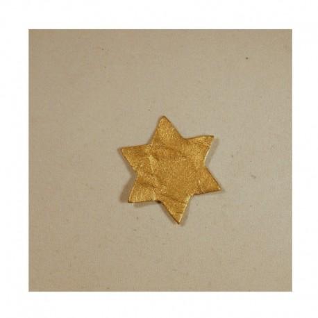Scrapbooking - Hvězdičky zlaté - malé