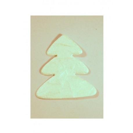 Scrapbooking - Stromeček z ručního papíru - bílý s perletí