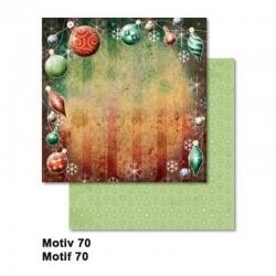 Scrapbooking - Oboustranný papír - Vánoční ozdoby