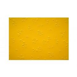 Scrapbooking - Embosované papíry - růžičky žluté