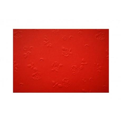 Scrapbooking - Embosované papíry - růžičky červené