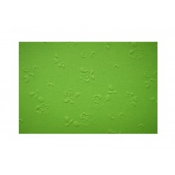 Embosované papíry - růžičky zelené