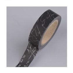 Scrapbooking - Samolepící páska - Černá s písmem