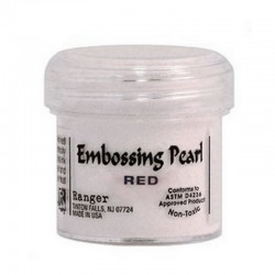 Scrapbooking - Embossing Pearl - Red