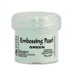 Scrapbooking - Embossing Pearl - Zelený