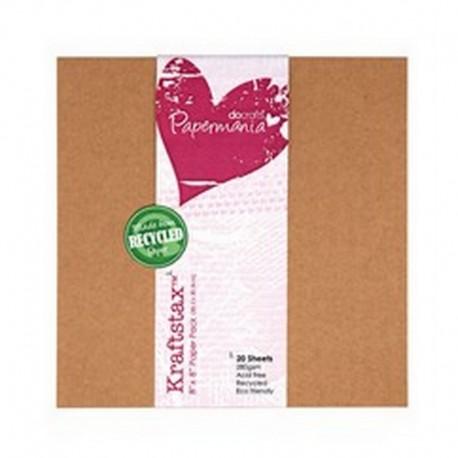 Scrapbooking - Sada kartonových papírů - Kraftstax 20x20cm