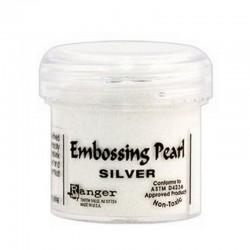 Scrapbooking - Embossing Pearl - Silver - stříbrný