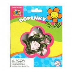 Kytičky růžové - látkové