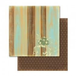 Scrapbooking - Papír - Oboustranný papír - Nostalgia dřevo