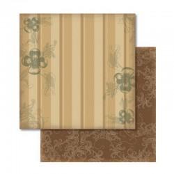 Scrapbook - Papír - Oboustranný papír - Nostalgia kytky a pruhy
