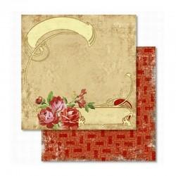 Scrapbooking - Papír - Oboustranný papír - Nostalgie Růže
