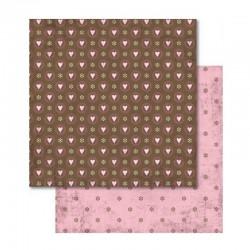 Scrapbooking - Papír - Oboustranný papír - Love srdíčka a kytičky