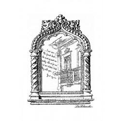 Scrapbook - Silikonové razítko - Rámeček s balkonem 9 x 6,5cm