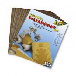 Scrapbook - Vlnitý papír - zlatý