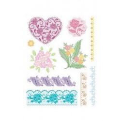 Razítka - Krajka - srdce, květiny....