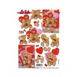 Scrapbooking - Valentýn - Medvídci
