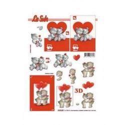Scrapbooking - Valentýn - Medvídci II.