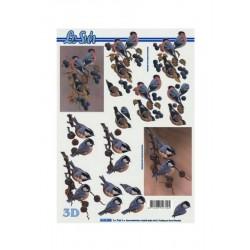 Scrapbook - Ptáci - podzim.