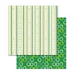 Papír - Oboustranný papír - Good Luck proužky + kroužky