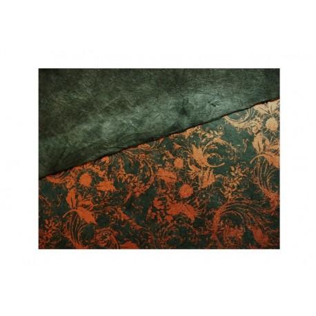 Scrap - Nepálský morušový papír - Zelený s krucánky