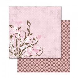 Scrapbooking - Papír - Oboustranný papír - Love lístky a kytičky