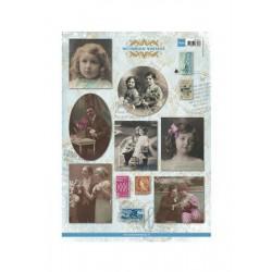 Cardmaking - Vintage foto-obrázky - Victorian vintage žena, muž a děti