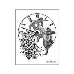 Silikonové razítko - Koláž s hodinami 9,5 x 7,5 cm