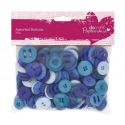 Scrapbooking - Knoflíčky - mix - modré