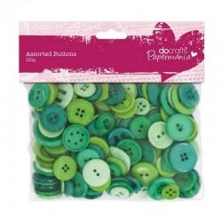 Scrap - Knoflíčky - mix - 250g - Zelené