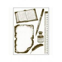 Razítka - Kniha, pravítko, psací pero.....