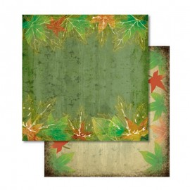 Scrap - Oboustranný papír - Barevné listí listí