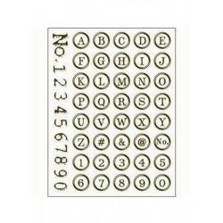 Scrapbooking - Razítka - Písmenka a číslice v kroužku