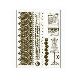 Scrapbooking - Razítka - Krajka, metr, knoflíky