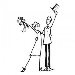 Scrap - Razítko dřevěné - Veselá svatba