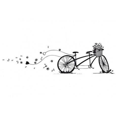 Scrapbooking - Razítko dřevěné - Kolo pro dva