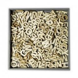 Scrap - Dřevěná abeceda - 250ks