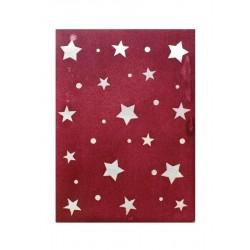 Thajský papír - Ruční morušový papír průsvit - hvězdy