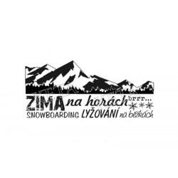 Scrapbook - Zima na horách, Snowboarding, lyžování..