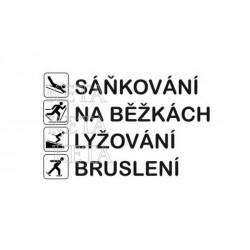 scrap - Sáňkování, na běžkách, lyžování.....
