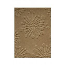 Embosovaná kartička - Květiny - ohňostoj - recyklované