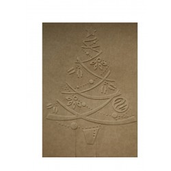 Embosovaná kartička - Stromeček - recyklovaný