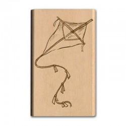 Razítko dřevěné - Nostalgia - Papírový drak
