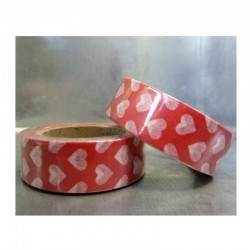 Washi páska - Červená srdíčka II.